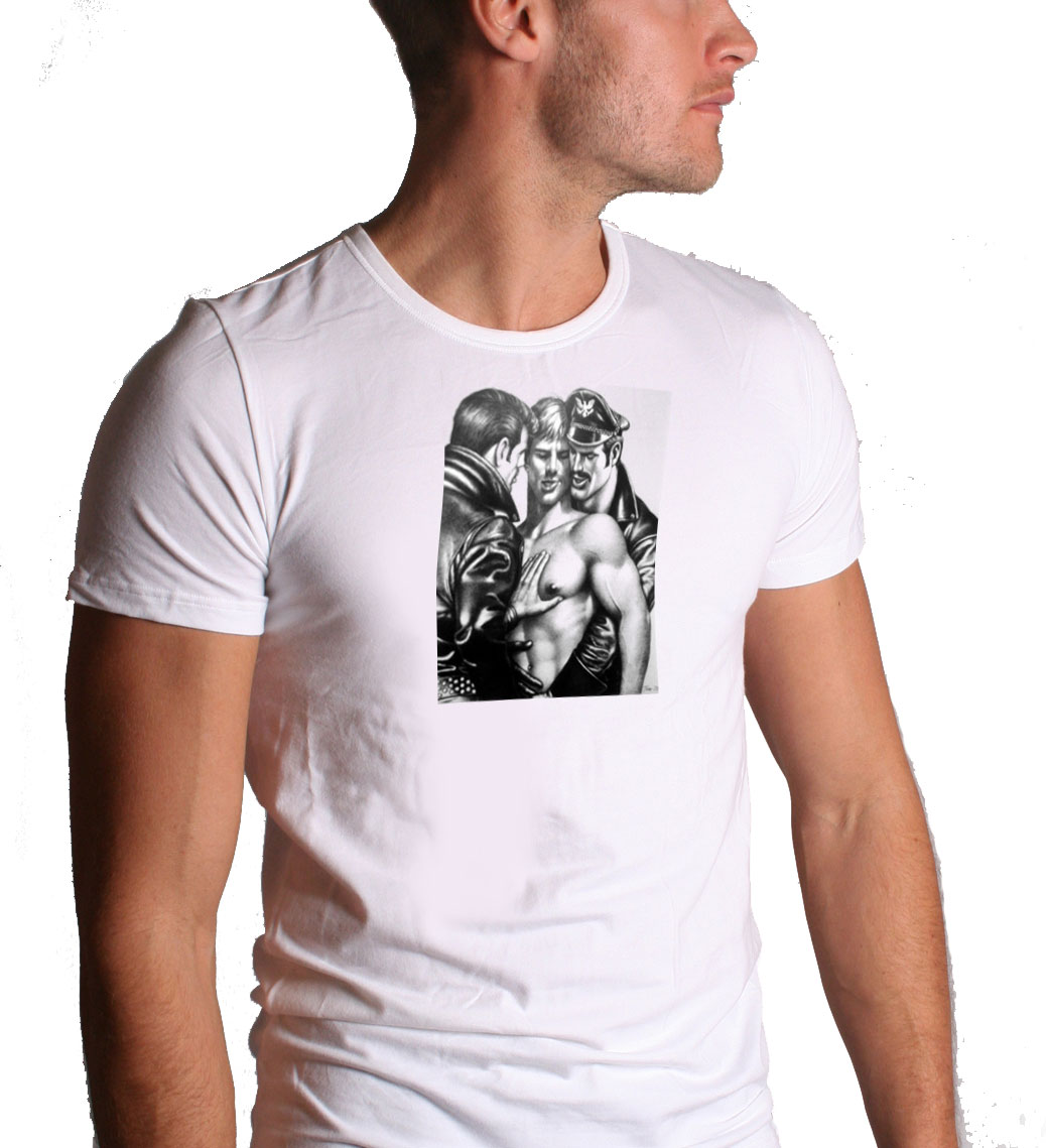 Good Catch Hard Place Tom Of Finland Screen Printed T