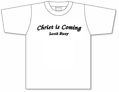 Good catch christ is coming screen printed t shirt for Cheap t shirt printing next day delivery